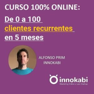 Curso de 0 a 100 clientes recurrentes Innokabi